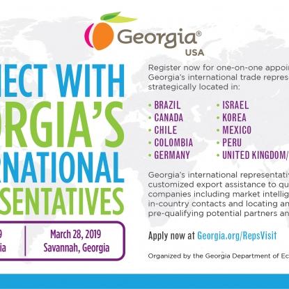 Connect with Georgia's International Trade Representatives